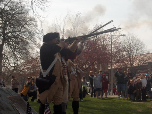 Firing the Muskets to Start the Race